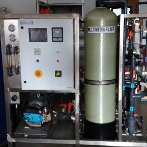 Seawater Reverse Osmosis Pilot System 500 little per hour